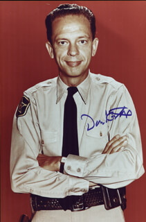 DON KNOTTS - AUTOGRAPHED SIGNED PHOTOGRAPH