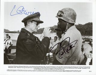 INCHON MOVIE CAST - AUTOGRAPHED SIGNED PHOTOGRAPH CO-SIGNED BY: RICHARD ROUNDTREE, LAURENCE OLIVIER