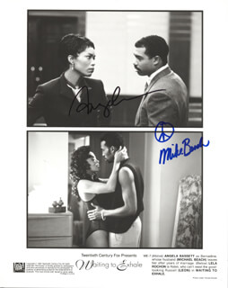 WAITING TO EXHALE MOVIE CAST - AUTOGRAPHED SIGNED PHOTOGRAPH CO-SIGNED BY: ANGELA BASSETT, MICHAEL BEACH