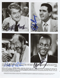 FLETCH LIVES MOVIE CAST - AUTOGRAPHED SIGNED PHOTOGRAPH CO-SIGNED BY: CLEAVON J. LITTLE, HAL HOLBROOK, RICHARD LIBERTINI, R. LEE ERMEY