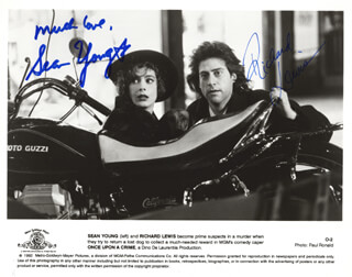 ONCE UPON A CRIME MOVIE CAST - PRINTED PHOTOGRAPH SIGNED IN INK CO-SIGNED BY: SEAN YOUNG, RICHARD LEWIS