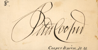 Autographs: PETER COOPER - SIGNATURE(S)