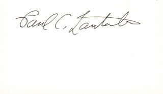 Autographs: PAUL C. LAUTERBUR - SIGNATURE(S)