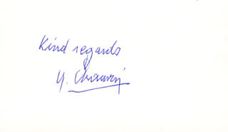 YVES CHAUVIN - AUTOGRAPH SENTIMENT SIGNED