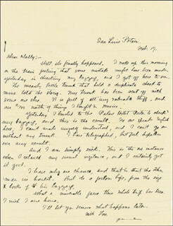 ZANE GREY - AUTOGRAPH LETTER SIGNED 02/17