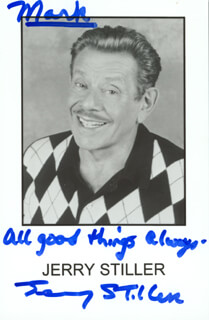 JERRY STILLER - AUTOGRAPHED INSCRIBED PHOTOGRAPH