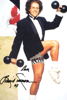 RICHARD SIMMONS - AUTOGRAPHED SIGNED PHOTOGRAPH 2005