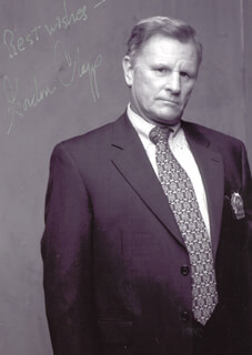 GORDON CLAPP - AUTOGRAPHED SIGNED PHOTOGRAPH