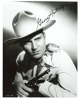 GENE AUTRY - AUTOGRAPHED SIGNED PHOTOGRAPH