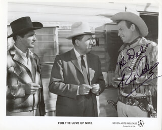 Autographs: REX ALLEN - INSCRIBED PRINTED PHOTOGRAPH SIGNED IN INK