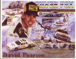 DAVID PEARSON - TRADING/SPORTS CARD SIGNED