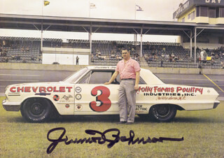 JUNIOR JOHNSON - AUTOGRAPHED SIGNED PHOTOGRAPH