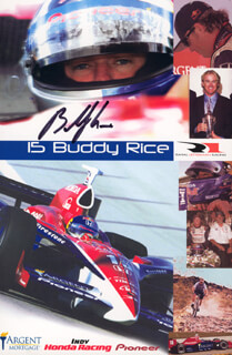 BUDDY RICE - AUTOGRAPHED SIGNED PHOTOGRAPH