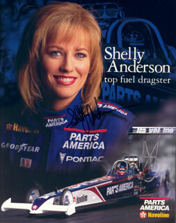SHELLY ANDERSON - AUTOGRAPHED SIGNED PHOTOGRAPH