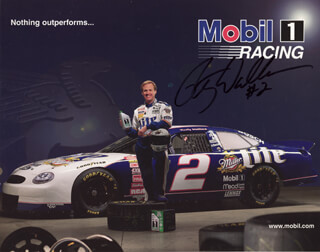 RUSTY WALLACE - AUTOGRAPHED SIGNED PHOTOGRAPH