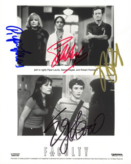 THE FACULTY MOVIE CAST - AUTOGRAPHED SIGNED PHOTOGRAPH CO-SIGNED BY: PIPER LAURIE, SALMA HAYEK, ROBERT PATRICK, ELIJAH WOOD