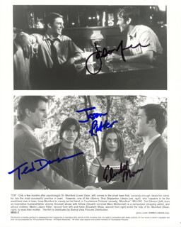 MUMFORD MOVIE CAST - AUTOGRAPHED SIGNED PHOTOGRAPH CO-SIGNED BY: TED DANSON, JASON LEE, JASON RITTER, ELISABETH MOSS