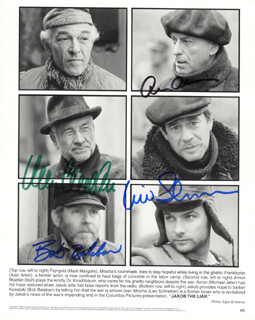 JAKOB THE LIAR MOVIE CAST - AUTOGRAPHED SIGNED PHOTOGRAPH CO-SIGNED BY: ALAN ARKIN, ARMIN MUELLER-STAHL, LIEV SCHREIBER, BOB BALABAN - HFSID 272672
