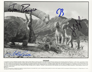 DINOSAUR MOVIE CAST - AUTOGRAPHED SIGNED PHOTOGRAPH CO-SIGNED BY: JOAN PLOWRIGHT, DELLA REESE, JULIANNA MARGULIES, D. B. SWEENEY