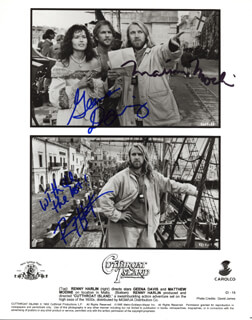 CUTTHROAT ISLAND MOVIE CAST - AUTOGRAPHED SIGNED PHOTOGRAPH CO-SIGNED BY: GEENA DAVIS, MATTHEW MODINE, RENNY HARLIN