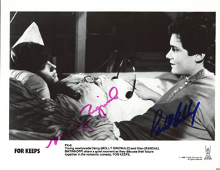 FOR KEEPS MOVIE CAST - AUTOGRAPHED SIGNED PHOTOGRAPH CO-SIGNED BY: MOLLY RINGWALD, RANDALL BATINKOFF