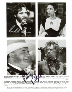 WALKER MOVIE CAST - AUTOGRAPHED SIGNED PHOTOGRAPH CO-SIGNED BY: PETER BOYLE, RICHARD MASUR