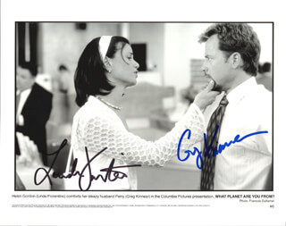 WHAT PLANET ARE YOU FROM MOVIE CAST - AUTOGRAPHED SIGNED PHOTOGRAPH CO-SIGNED BY: LINDA FIORENTINO, GREG KINNEAR