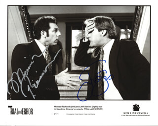 TRIAL AND ERROR MOVIE CAST - AUTOGRAPHED SIGNED PHOTOGRAPH CO-SIGNED BY: MICHAEL RICHARDS, JEFF DANIELS