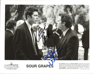 SOUR GRAPES MOVIE CAST - AUTOGRAPHED SIGNED PHOTOGRAPH CO-SIGNED BY: STEVEN WEBER, CRAIG BIERKO