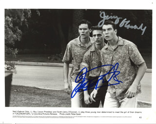 CALENDAR GIRL MOVIE CAST - AUTOGRAPHED SIGNED PHOTOGRAPH CO-SIGNED BY: JASON PRIESTLEY, JERRY O'CONNELL
