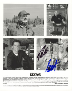 MISSION TO MARS MOVIE CAST - AUTOGRAPHED SIGNED PHOTOGRAPH CO-SIGNED BY: TIM ROBBINS, CONNIE NIELSEN