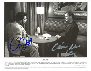 GUN SHY MOVIE CAST - AUTOGRAPHED SIGNED PHOTOGRAPH CO-SIGNED BY: OLIVER PLATT, LIAM NEESON