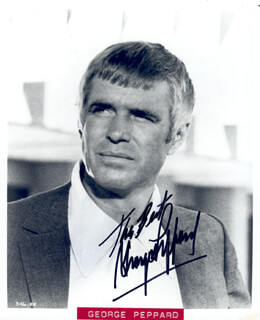 GEORGE PEPPARD - AUTOGRAPHED SIGNED PHOTOGRAPH