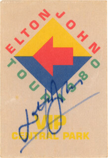 SIR ELTON JOHN - PASS SIGNED