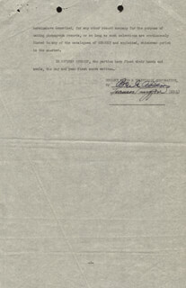 FRANCES LANGFORD - DOCUMENT SIGNED 03/08/1947