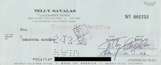 TELLY SAVALAS - AUTOGRAPHED SIGNED CHECK 02/07/1965 CO-SIGNED BY: CHRISTINA SAVALAS