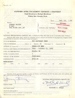CONWAY TWITTY - DOCUMENT SIGNED 10/12/1960