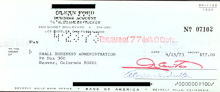GLENN FORD - AUTOGRAPHED SIGNED CHECK 04/15/1973