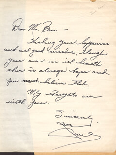 JANE POWELL - AUTOGRAPH LETTER SIGNED
