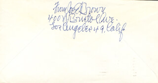JOE E. BROWN - AUTOGRAPH ENVELOPE SIGNED CIRCA 1966