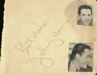 JOHNNY DOWNS - AUTOGRAPH SENTIMENT SIGNED CO-SIGNED BY: ART LUND