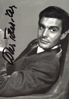 LOUIS JOURDAN - AUTOGRAPHED SIGNED PHOTOGRAPH