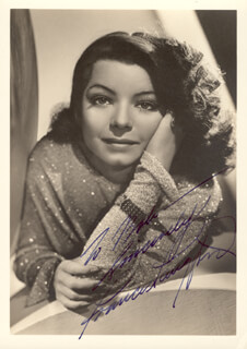 FRANCES LANGFORD - AUTOGRAPHED INSCRIBED PHOTOGRAPH