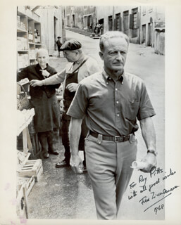 FRED ZINNEMANN - AUTOGRAPHED INSCRIBED PHOTOGRAPH 1968
