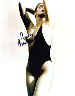 CINDY CRAWFORD - AUTOGRAPHED SIGNED PHOTOGRAPH
