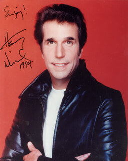 HENRY THE FONZ WINKLER - AUTOGRAPHED SIGNED PHOTOGRAPH 1994