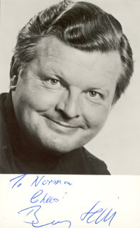 BENNY HILL - AUTOGRAPHED INSCRIBED PHOTOGRAPH