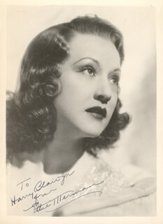 ETHEL MERMAN - AUTOGRAPHED INSCRIBED PHOTOGRAPH