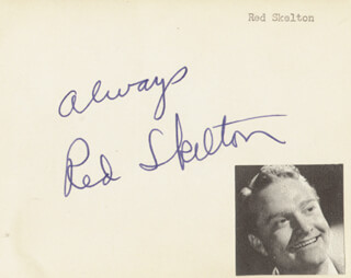 RED SKELTON - AUTOGRAPH SENTIMENT SIGNED