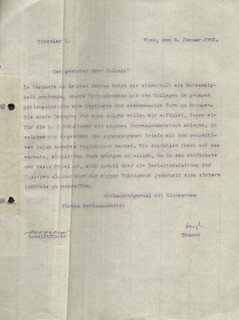 THEODOR HERZL - TYPED LETTER SIGNED 01/08/1902